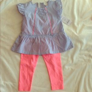 New 18 month set leggings and blouse Easter outfit